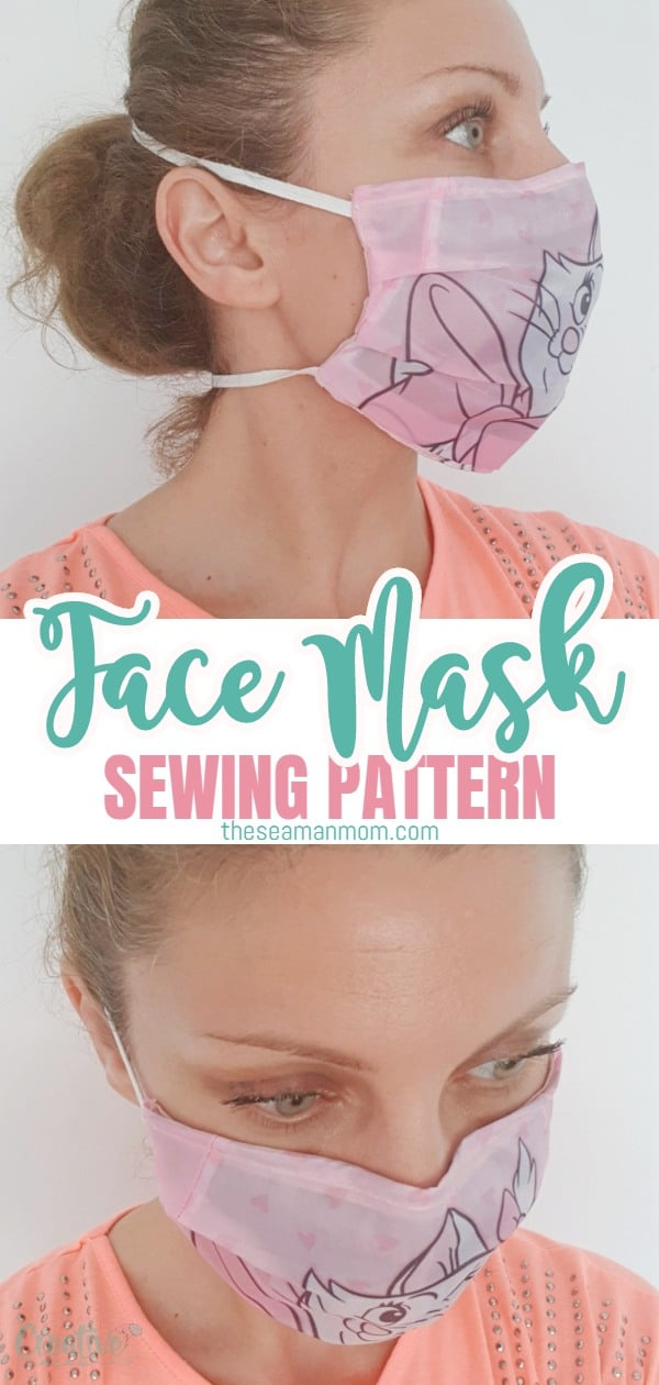 Make your own reusable face mask that is breathable, comfortable to wear and easy to sew with this simple face mask pattern! An adorable fabric face mask pattern made in the fabric you love! via @petroneagu