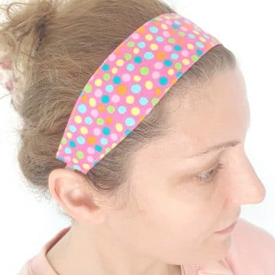 Reversible fabric headband pattern
