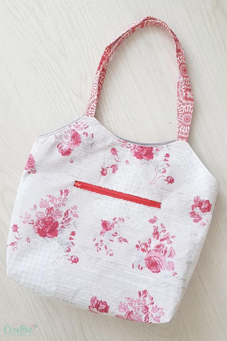 How to add a welt zipper pocket to a bag