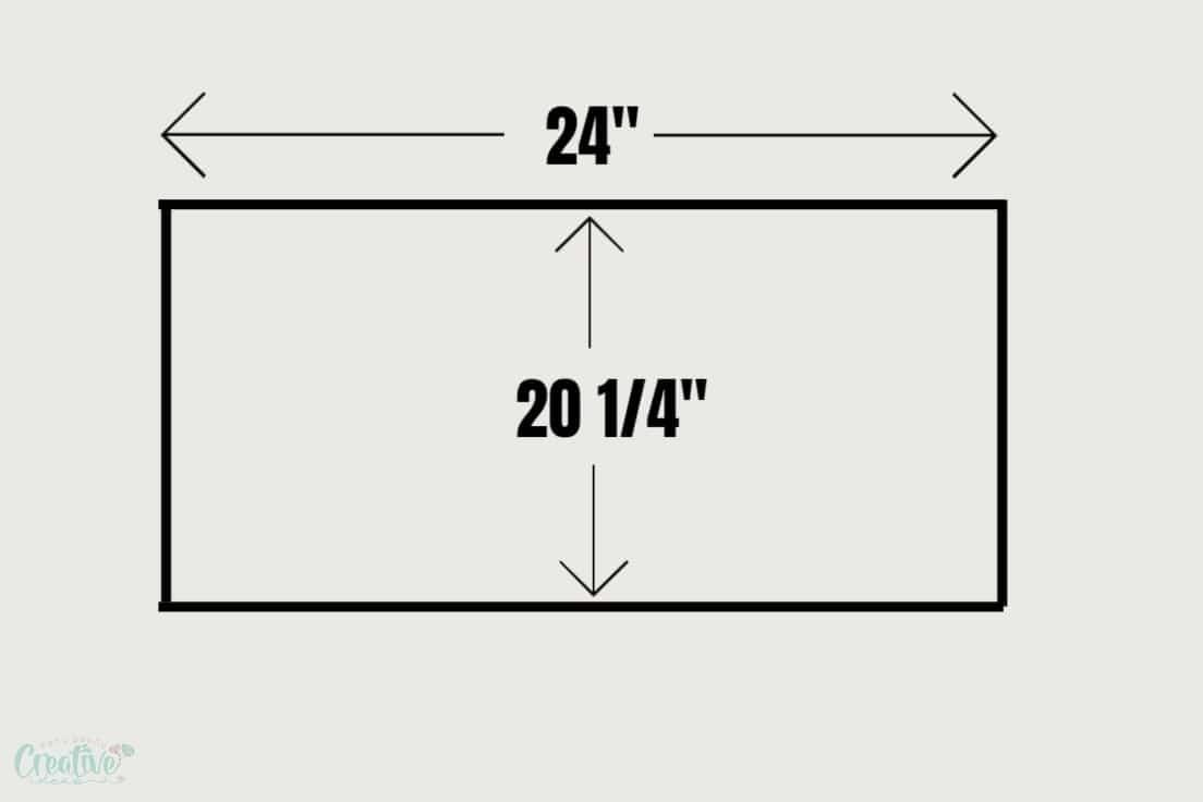 Elastic waist skirt diagram