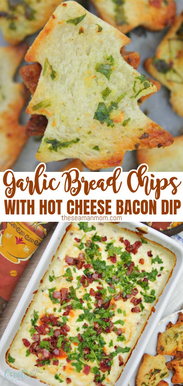 Try these garlic bread chips together with a hot cheese dip for the most crispy, crunchy, gooey and mouthwatering appetizer idea! via @petroneagu