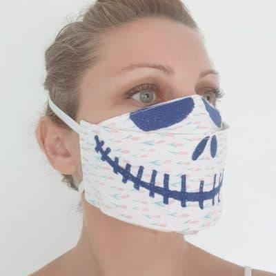 Halloween 3D face mask pattern