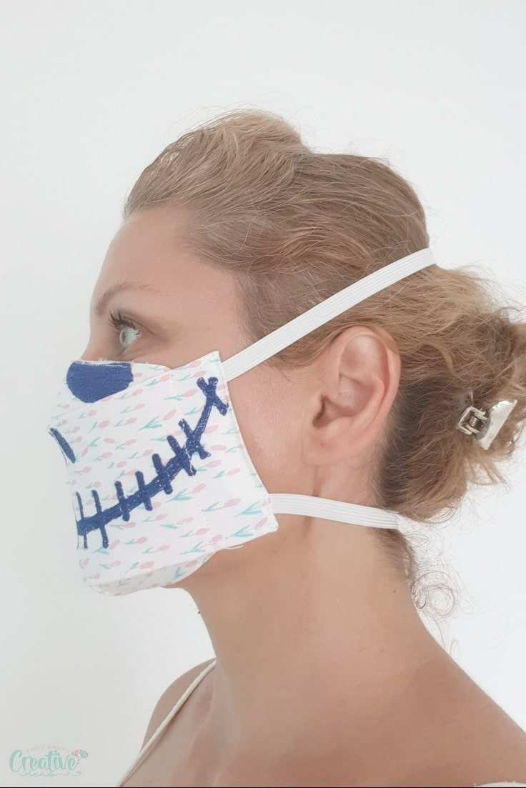 3D Fabric face mask pattern