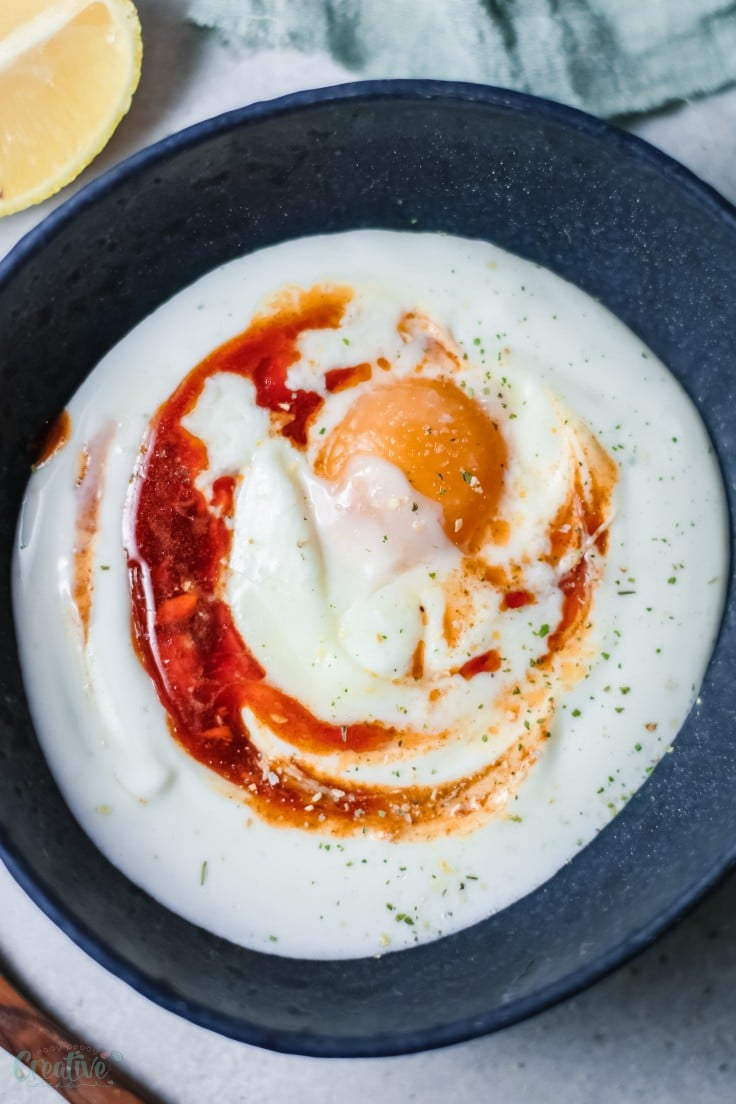 Turkish eggs breakfast
