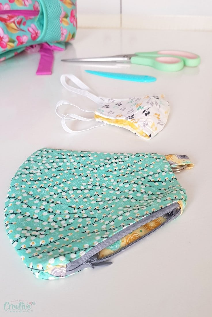 DIY face mask pouch