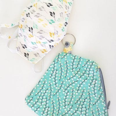 Zippered Face mask pouch sewing pattern