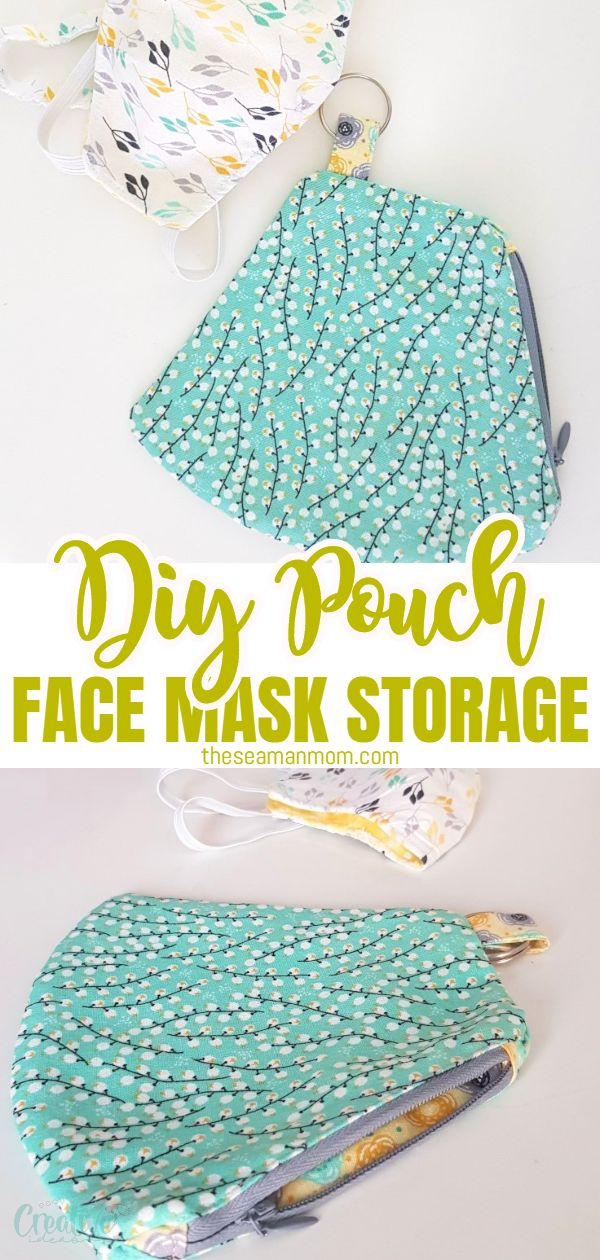 Wearing a face mask almost everywhere has been one of the biggest changes we had to adjust to this year! Carry your favorite face mask in a stylish and practical face mask pouch that you can easily make yourself in just half an hour!  via @petroneagu