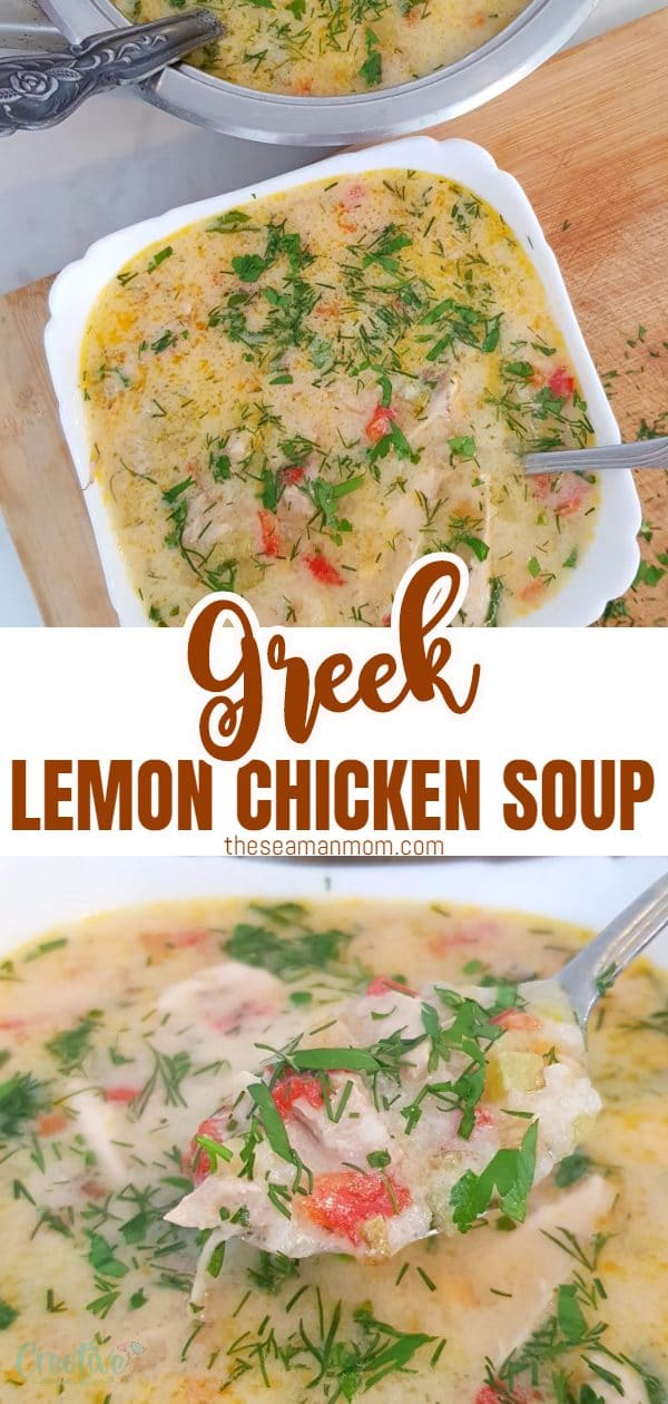 You are going to fall in love with this authentic Greek lemon chicken soup! This is a soft, richly flavored traditional chicken soup which comes together in just about 30 minutes! via @petroneagu