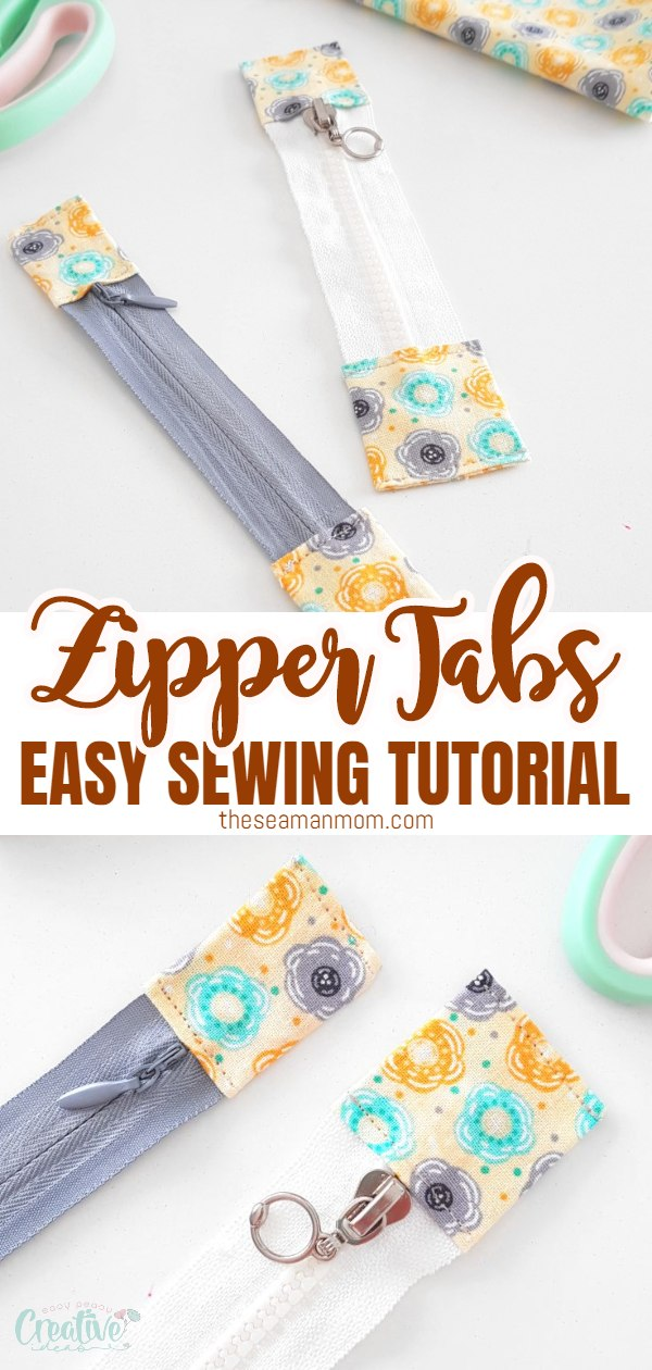 Zipper tabs are a great way of shortening or lengthening zippers and add a personal touch. Today I'm going to show you a super easy zipper tabs tutorial so that you don't need to be looking for the perfect zipper for ages. via @petroneagu