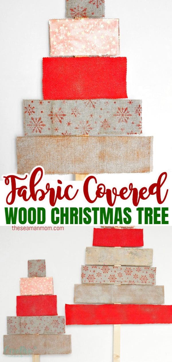 If you live in a small apartment or simply don't want to deal with the hassle of getting a natural Christmas tree this unconventional fabric covered DIY wood Christmas tree is the next best alternative. via @petroneagu