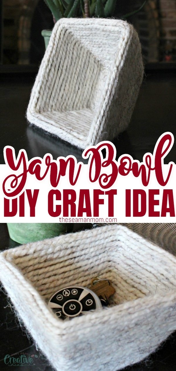 Feeling creative? Make yourself a cute bowl using a handful of simple materials! This practical yarn bowl DIY is so easy to make! via @petroneagu