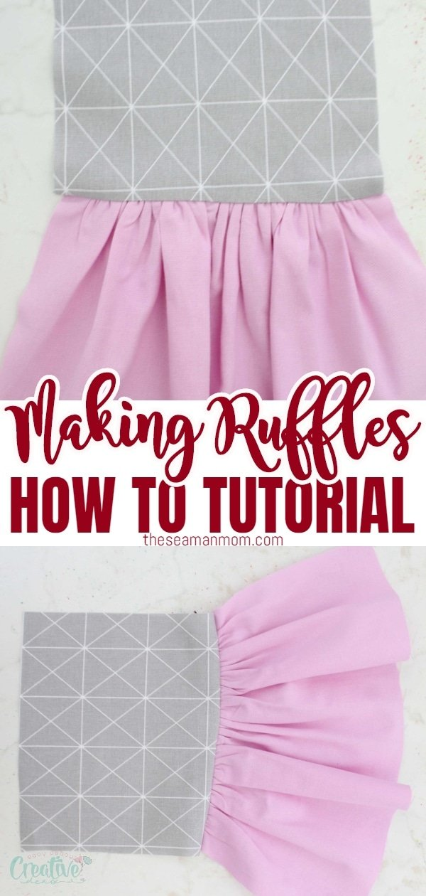 Need an easy way to gather fabric and make beautiful, even ruffles? Making ruffles is easy and fun and I've got just the perfect method for gathering fabric! Check out these simple tips below to learn how to gather fabric the easiest way! via @petroneagu
