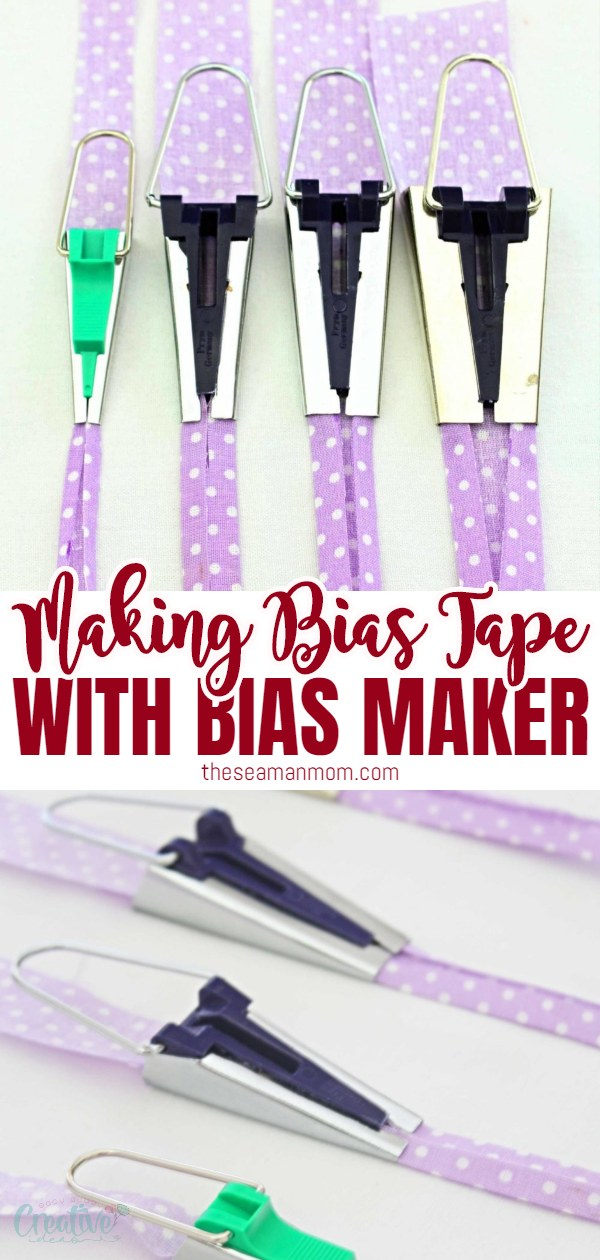 Love using bias binding but hate the store bought bias? Make your own with a bias tape maker, a coolgadget designed to turn bias strips into bias tape in a blink of an eye! Here you'll learn how to use a bias tape maker! via @petroneagu