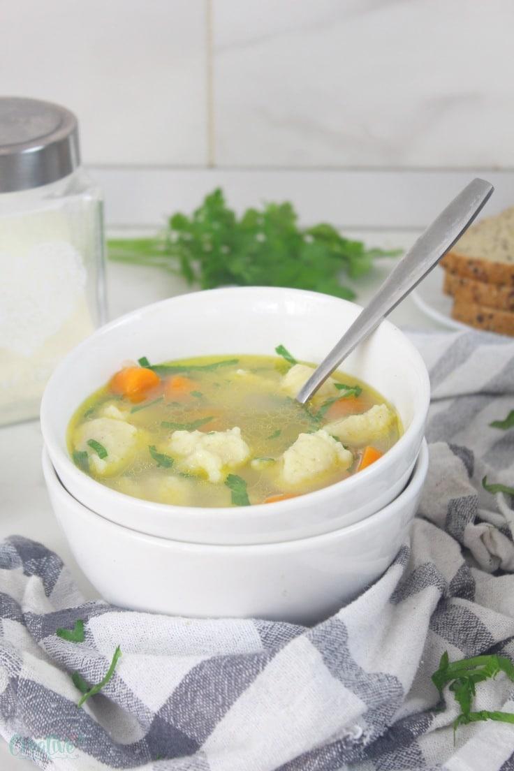 Easy dumplings soup