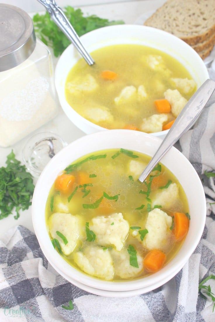 Dumplings soup recipe