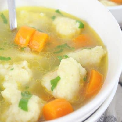 Make this absolutely comforting semolina dumplings soup