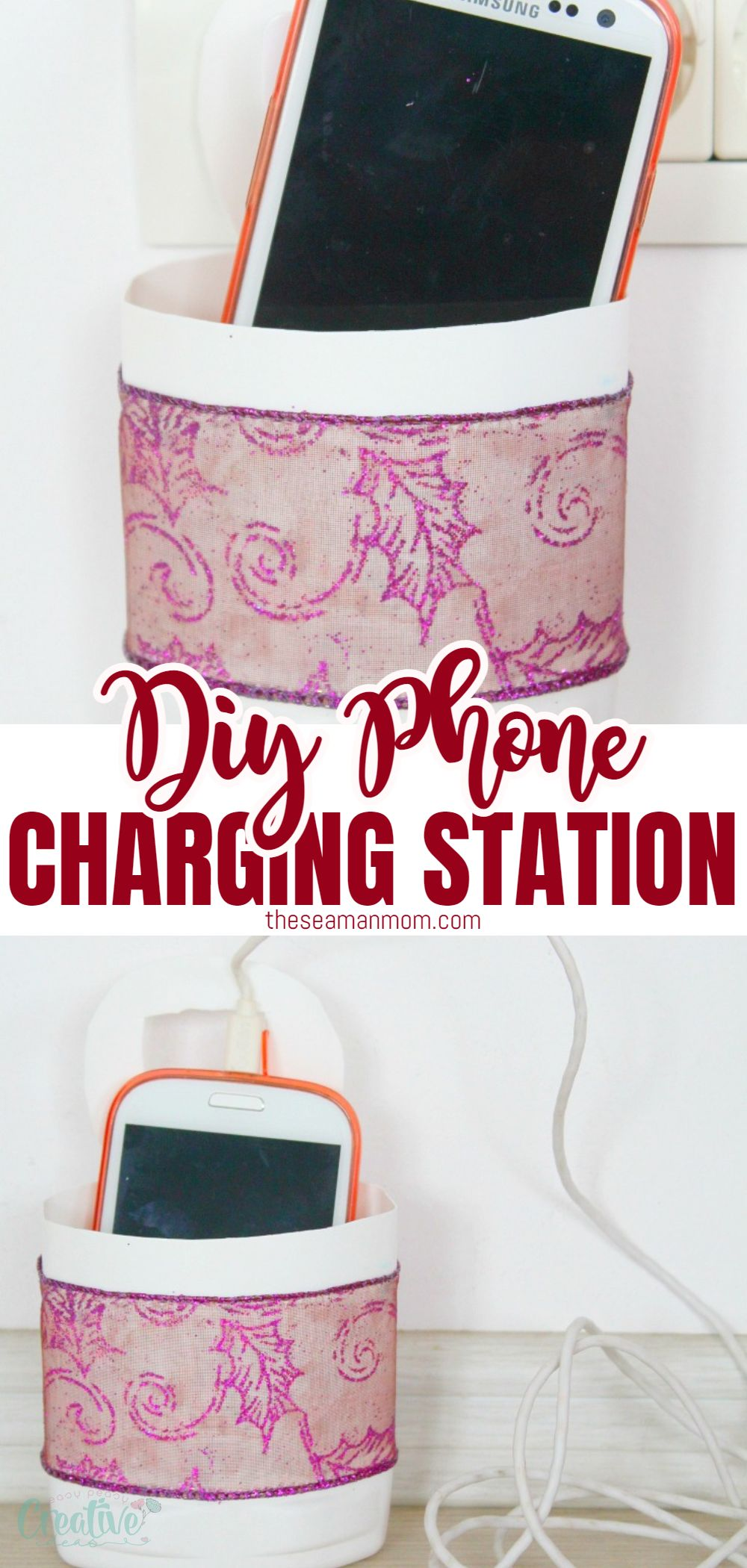 Creating your own DIY Phone Charging Station has never been easier with this simple & quick tutorial! Great recycling project and a lovely gift idea too! via @petroneagu