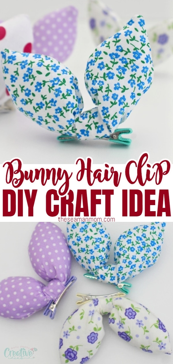 This adorable bunny hair clip is fun, quick to make and great addition to a festive outfit! Hop on over and see how to make your own Easter hair bows in just a few easy steps! via @petroneagu