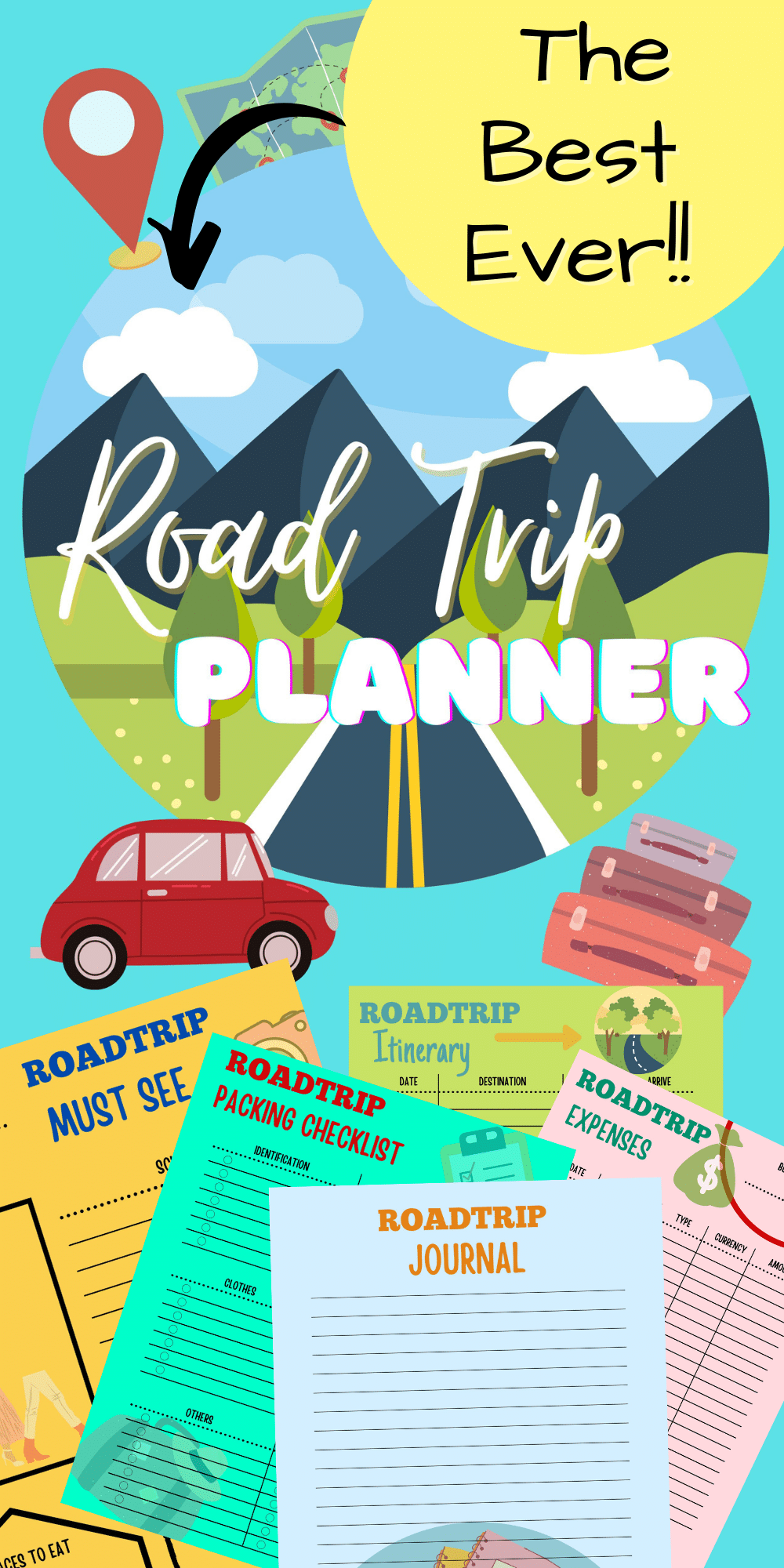 Before you hit the road, it's a good idea to take some time to plan out your trip. And with the help of this printable road trip planner, you can keep your vacation plans neat and organized in one handy place! via @petroneagu
