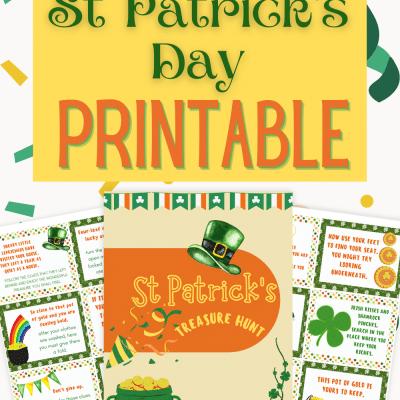 St Patrick's day treasure hunt printables