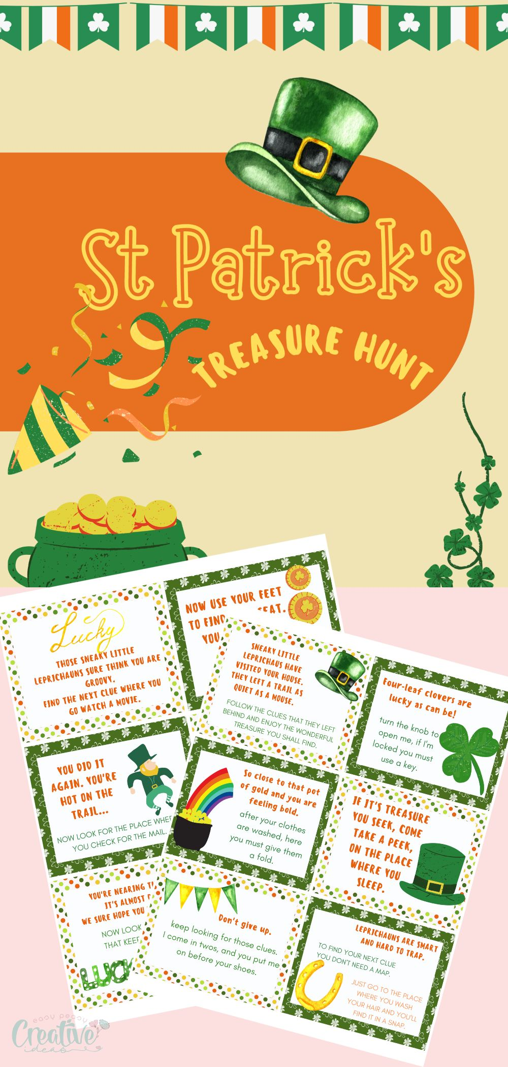 With the help of my St Patrick's day printable, you can quickly and easily set up your own adventure for St. Patrick's Day. via @petroneagu