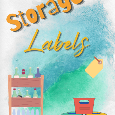 Super useful storage labels to keep you organized and tidy