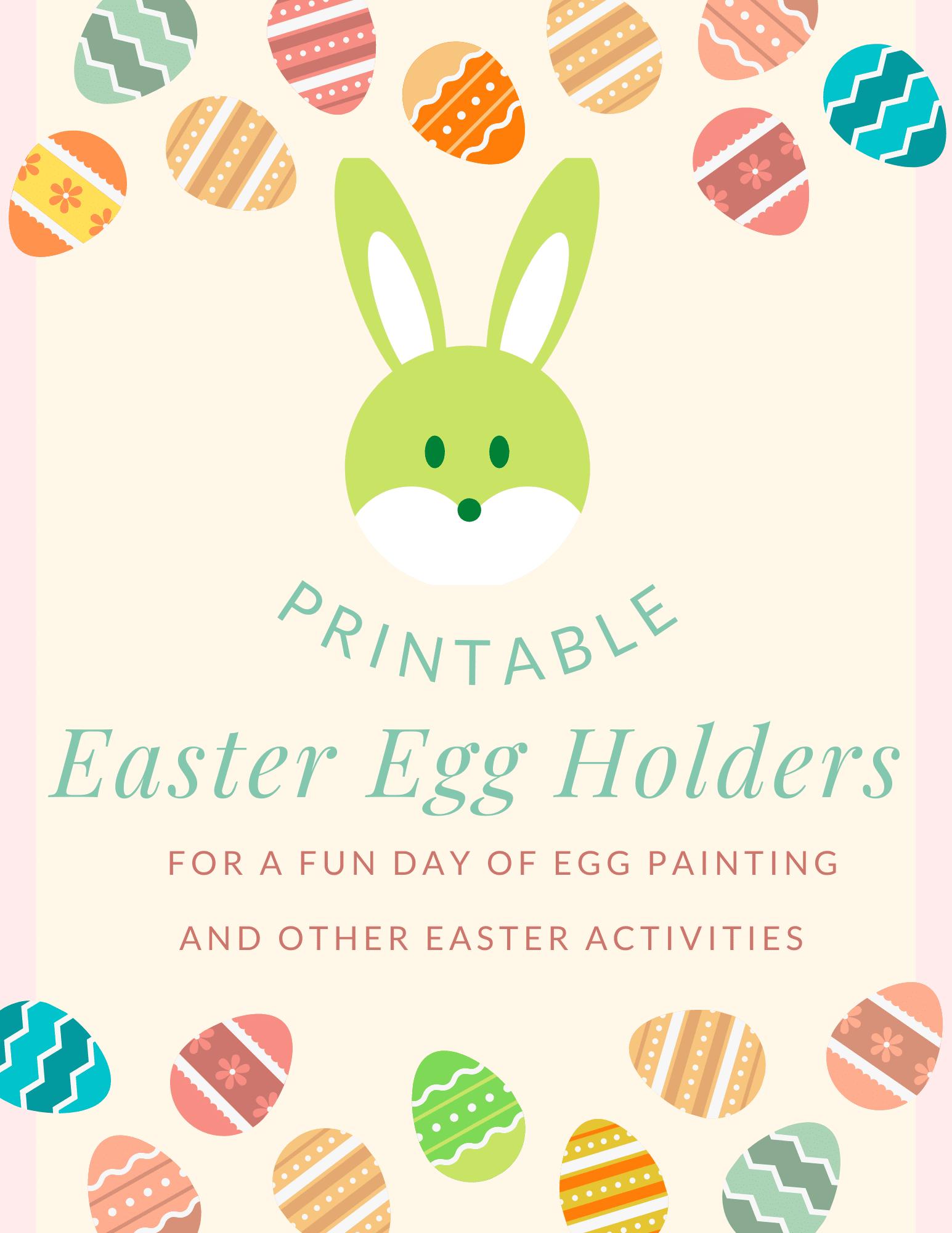 Easter bunny egg holder