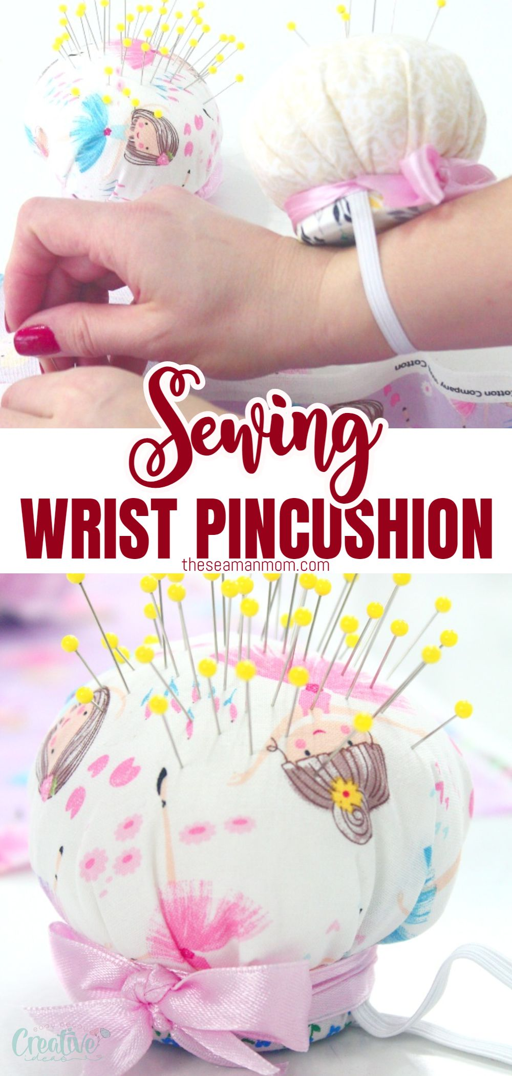 Ever needed a pincushion to put your pins away, but still be on hand? There are lots of pincushions you can place around your sewing area and this time I'm going to show you a super easy way of making a DIY wrist pin cushion. You will always have your cute, useful wrist pincushion on hand, literally! via @petroneagu