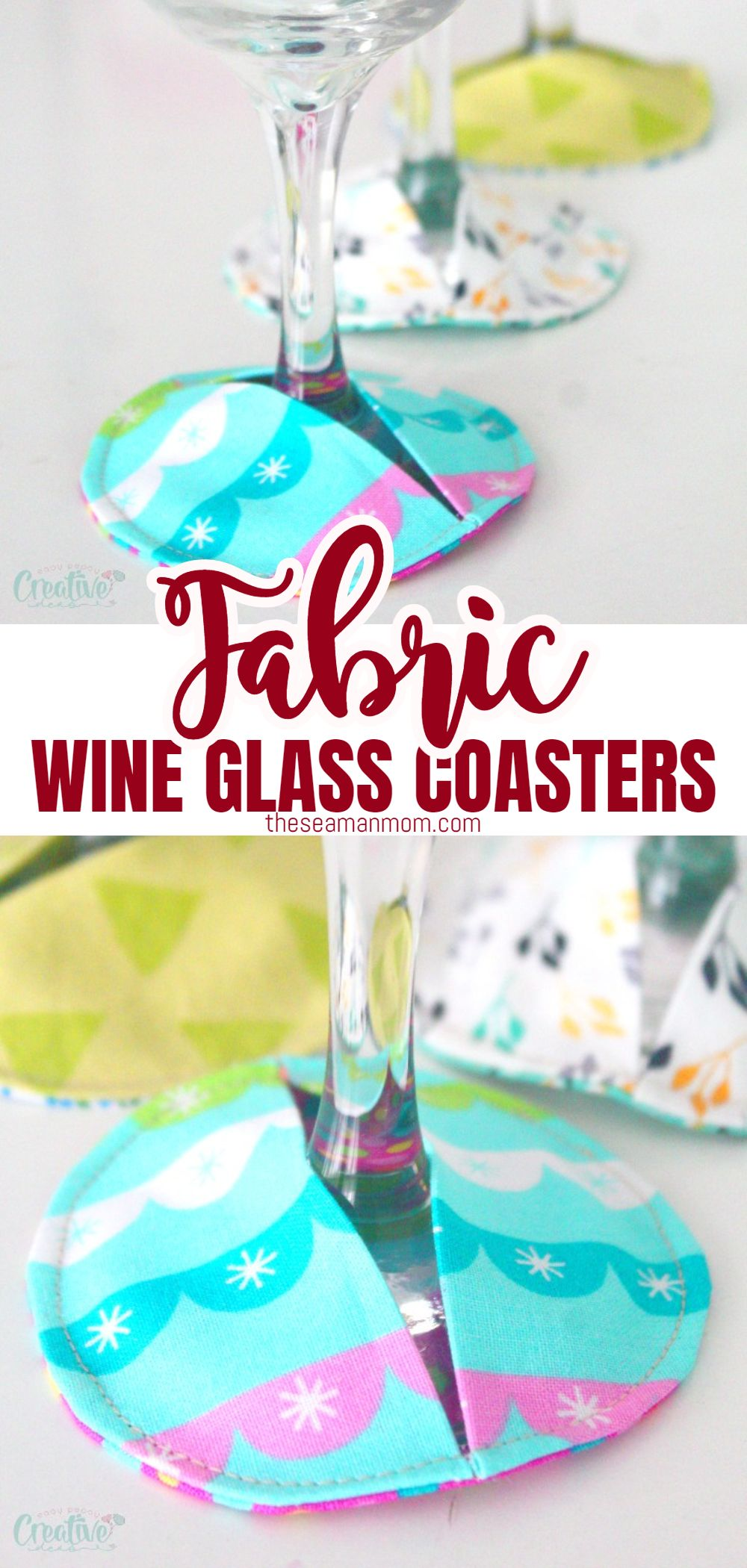 Ever wondered if there's a cute way of preventing glass marks on your furniture during a party? Well, look no more! In this easy peasy DIY fabric coasters tutorial I'm going to show you a super easy way of making a whole bunch of wine glass slipper in just a few minutes! via @petroneagu