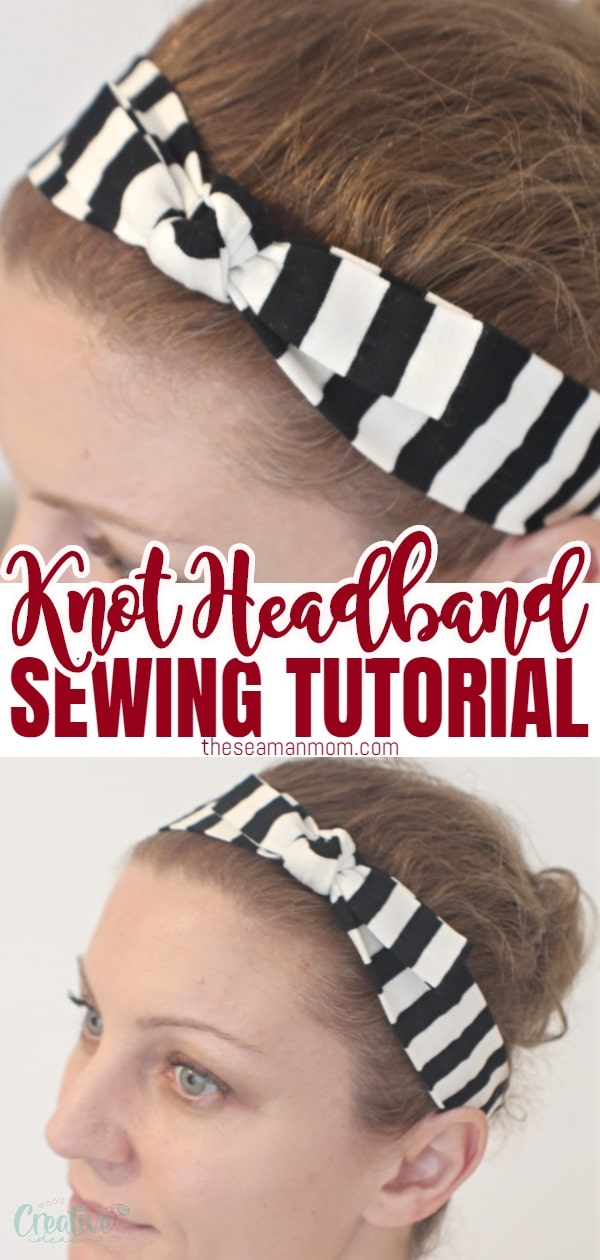Sewing headbands has never been easier with this free and quick DIY knot headband tutorial! Quickly create a knit headband to match any outfit all year round, from spring to winter! This simple DIY headband is a great project to get kids hooked on sewing. via @petroneagu
