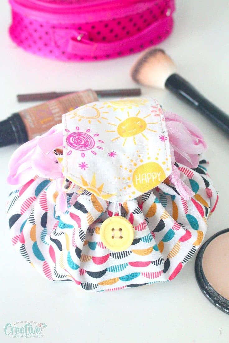 Drawstring makeup bag pattern
