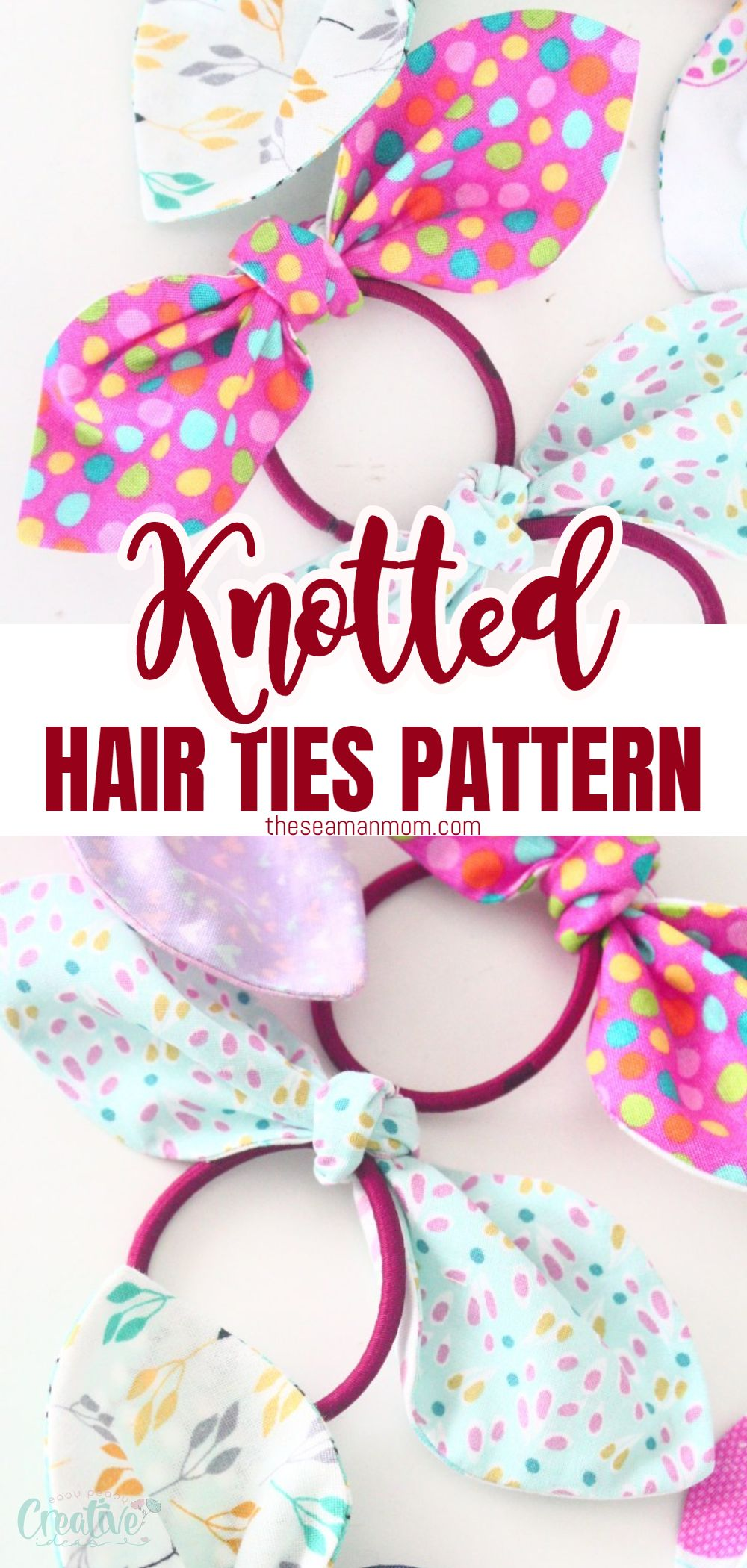 Girls love cute and colored hair accessories, so these knotted hair ties will be great for your little one! They look just like little bows and come out in just a few minutes. In about an hour, you will get a complete set of colored hair ties to accessorize your daughter's wardrobe. via @petroneagu