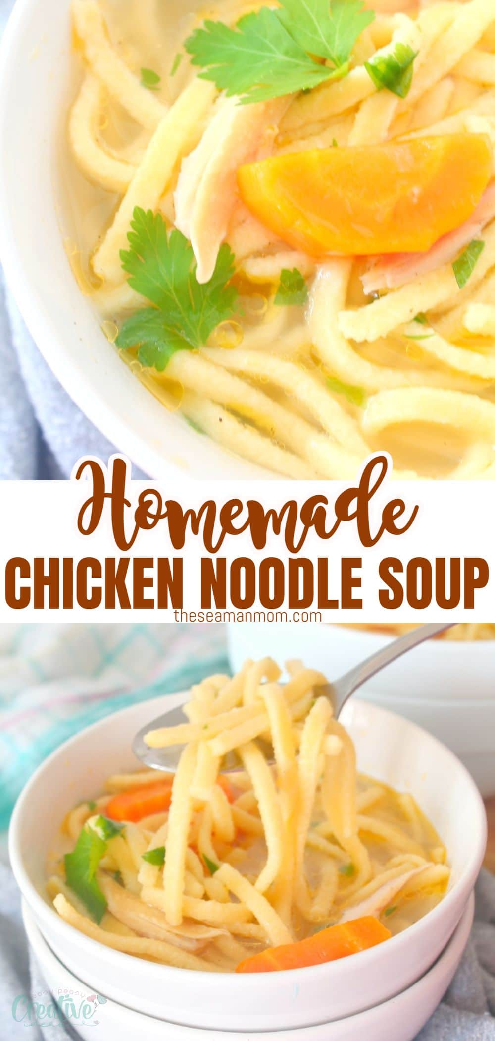 Nothing heals a cold quicker than a nice bowl of hot chicken noodle soup! The classic comfort food for cool days or when you're feeling sick! via @petroneagu