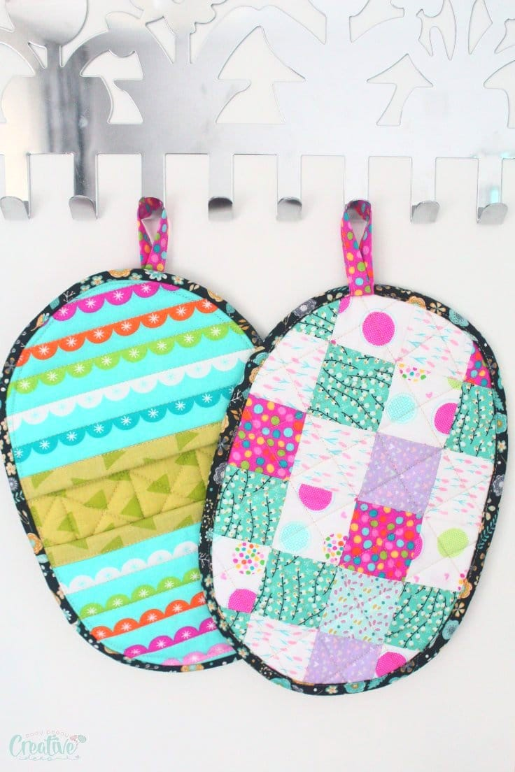 Patchwork potholders sewing pattern