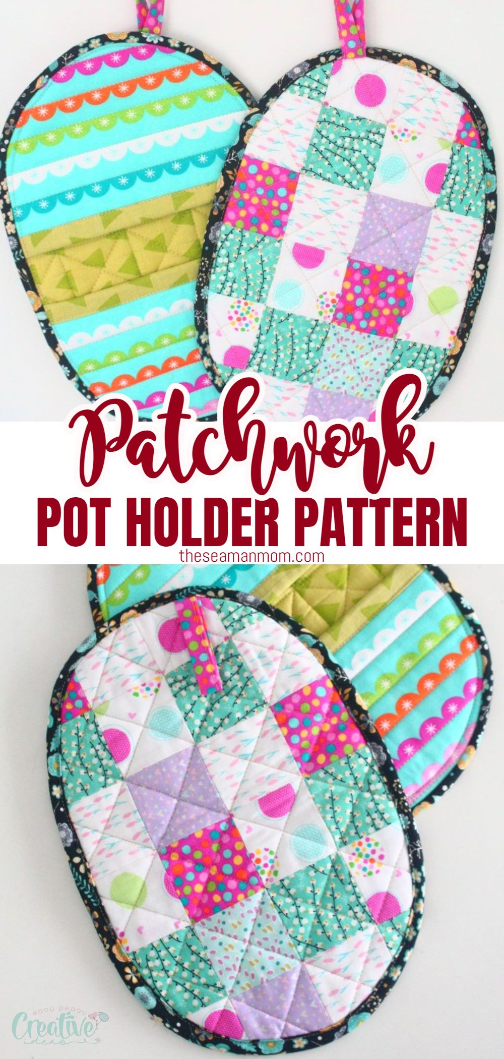 Those of us who love cooking know how important it is to have a good potholder on hand, especially if your pots have metal handles which heat up a lot! This is a quick an easy tutorial for making your own rounded patchwork quilted potholders at home. via @petroneagu