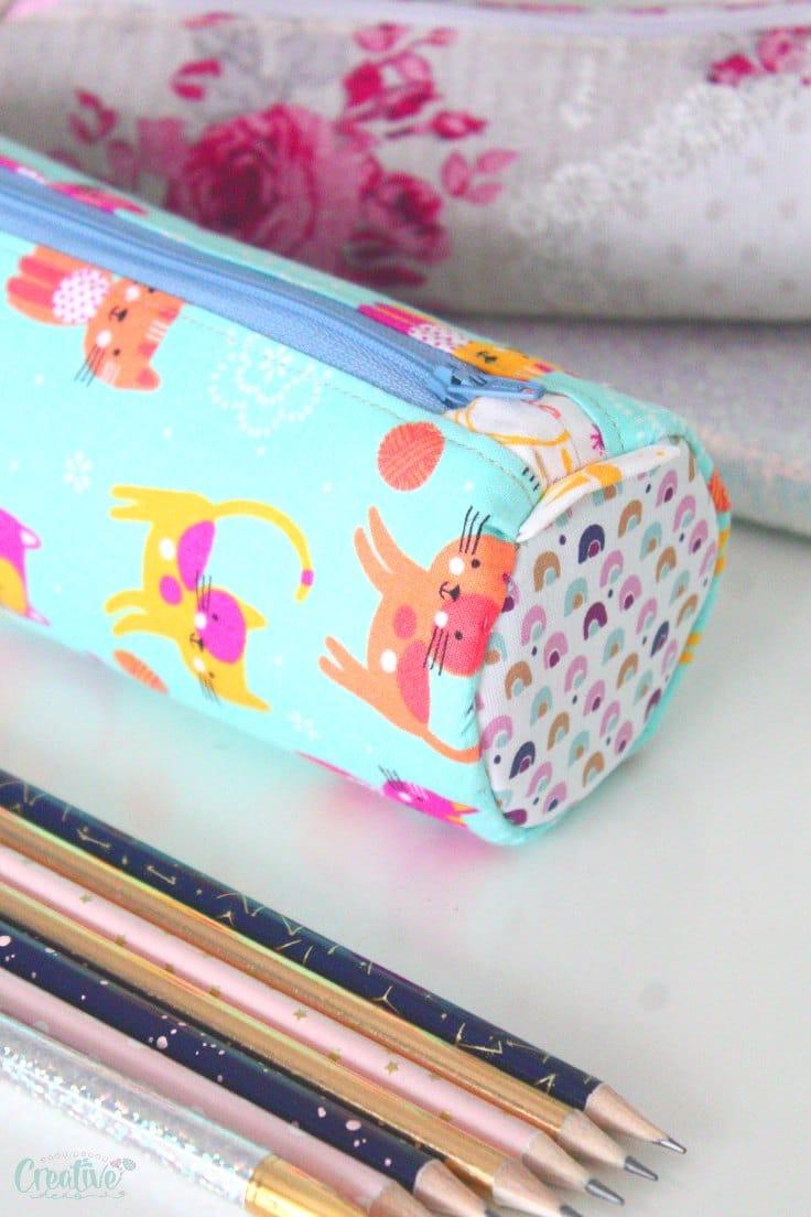 Round pencil case
