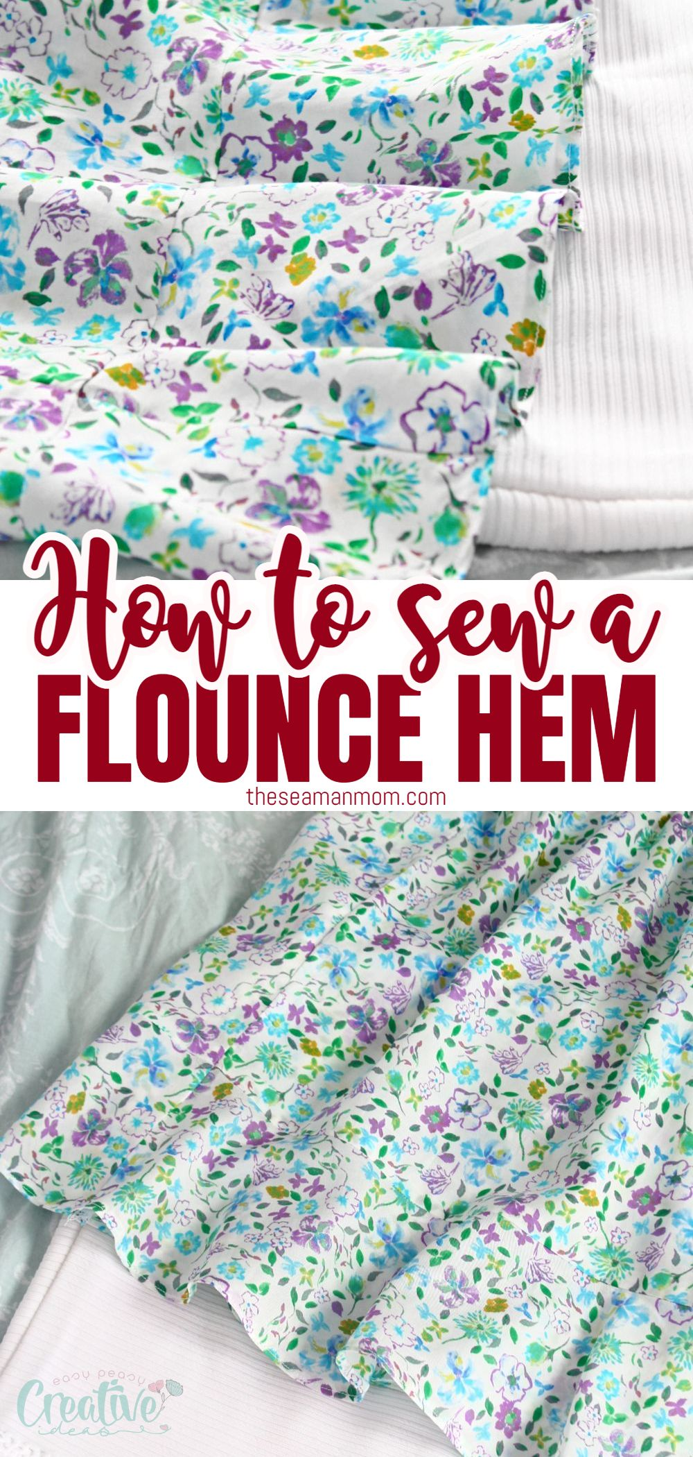 Did you know that there's more than just one way to sew beautiful ruffles? Here's how to make a flounce or a circular ruffle without gathering the fabric or using a special gathering or ruffling foot! via @petroneagu