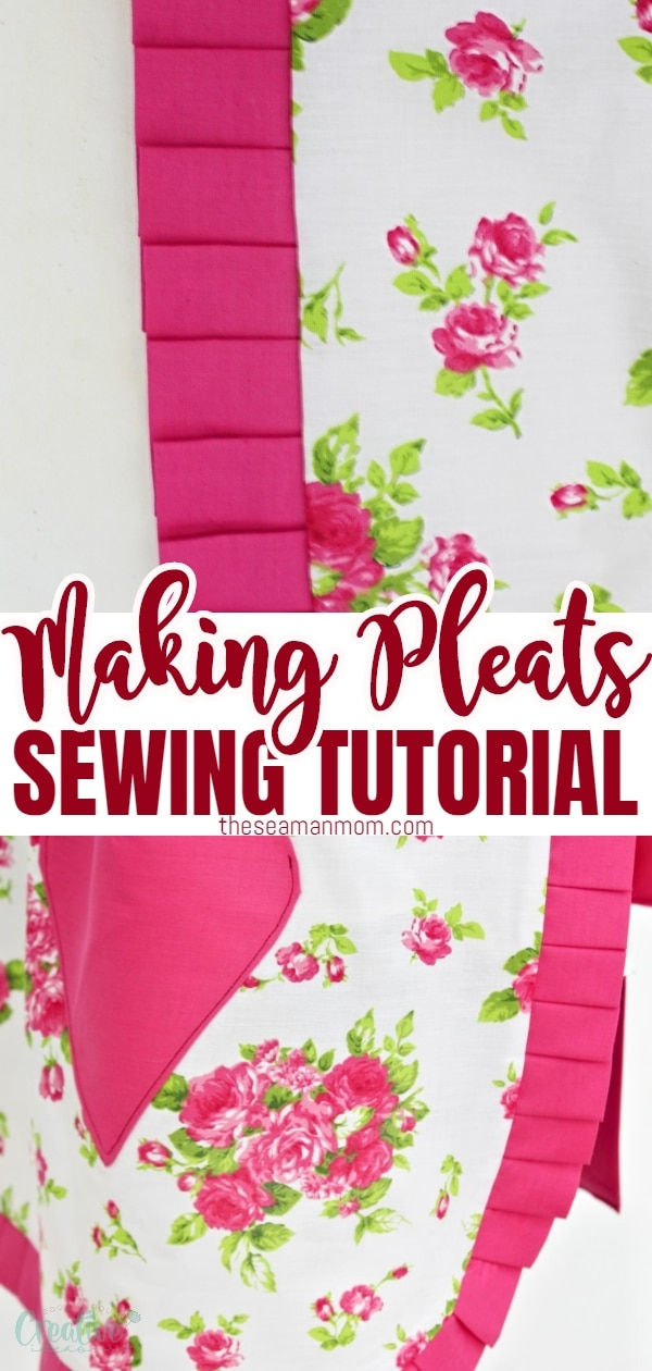 Pleated fabric looks so pretty, with knife pleats being the most common and for some, the easiest of the pleats family. In this tutorial you'll learn how to make pleats with an easy peasy method, without the need for expensive or complicated sewing tools. via @petroneagu
