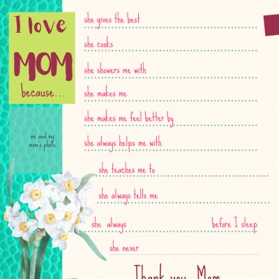Amazing Mother's Day Printable Pack to Make a Cute DIY Gift