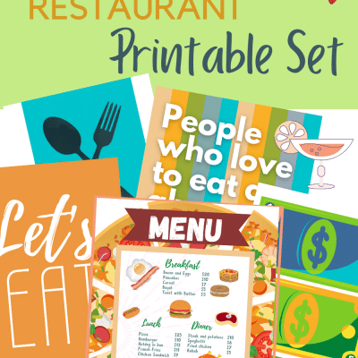 Grab this Incredibly fun and entertaining pretend play restaurant for kids!