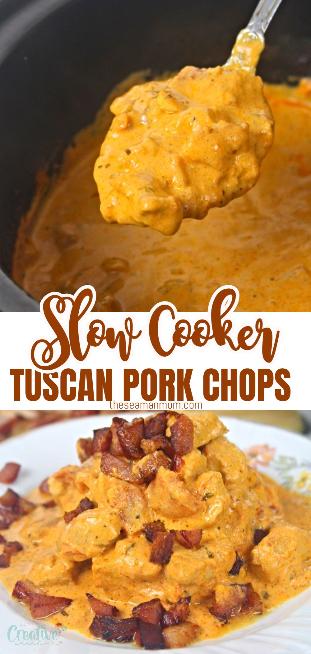 Slow cooker pork chops is a very luscious but easy recipe to make with ingredients you already have at home, so it can easily turn into a staple dish in any home. These creamy Tuscan pork chops can even be a great hit at the next dinner party or family gathering. via @petroneagu