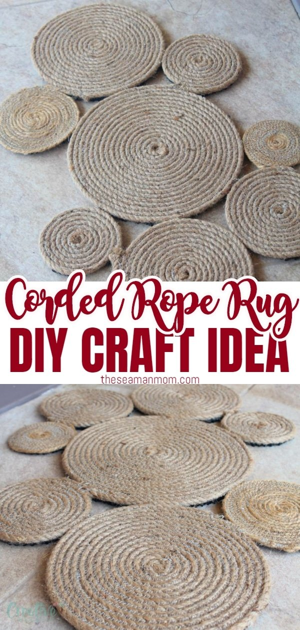 Make your own rug and give your entry way a bit of a nautical touch! Adding fun to your front door area is so easy peasy with this DIY coiled rope rug! via @petroneagu