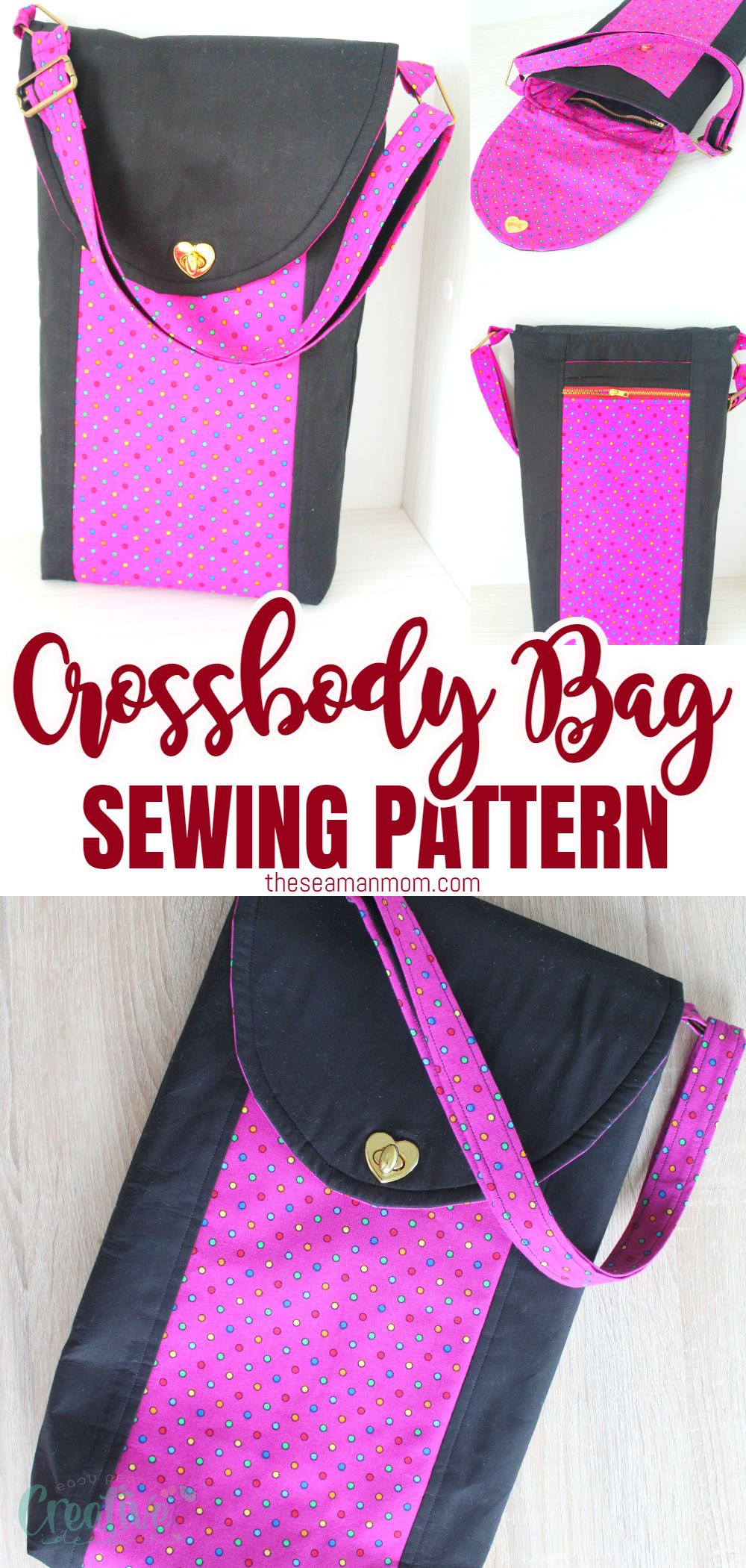 If you're looking for a fun to wear bag that is also easy to make, chic and incredibly useful, a cross body bag is a must! Make your own to carry just about anything with this simple and easy to follow cross body bag pattern! via @petroneagu