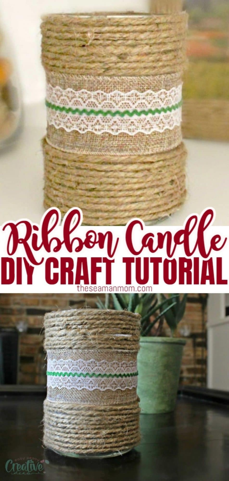 DIY decorated candles