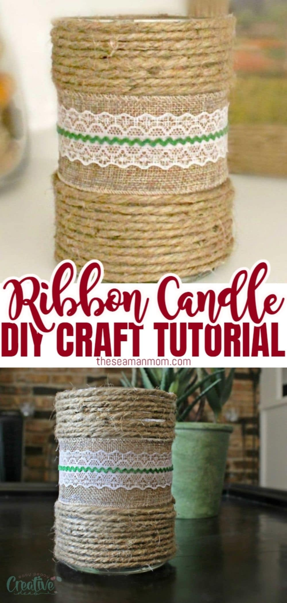 Decorating candles with ribbon is probably the easiest way to make pretty decorated candles for your home decor! Theseribbon candles are good for more than just light and scent, super adorable and a great way to express your creativity, on the budget! via @petroneagu