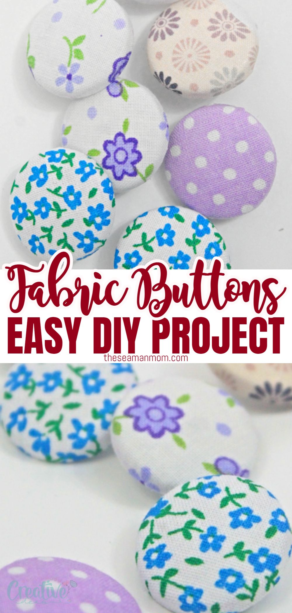 Fabric covered buttons are not an upholstery only attribute anymore, these cute notions are more and more used in sewing and craft projects too! Learn how to make fabric buttons for your own projects at home without any special tools or a button cover kit! via @petroneagu