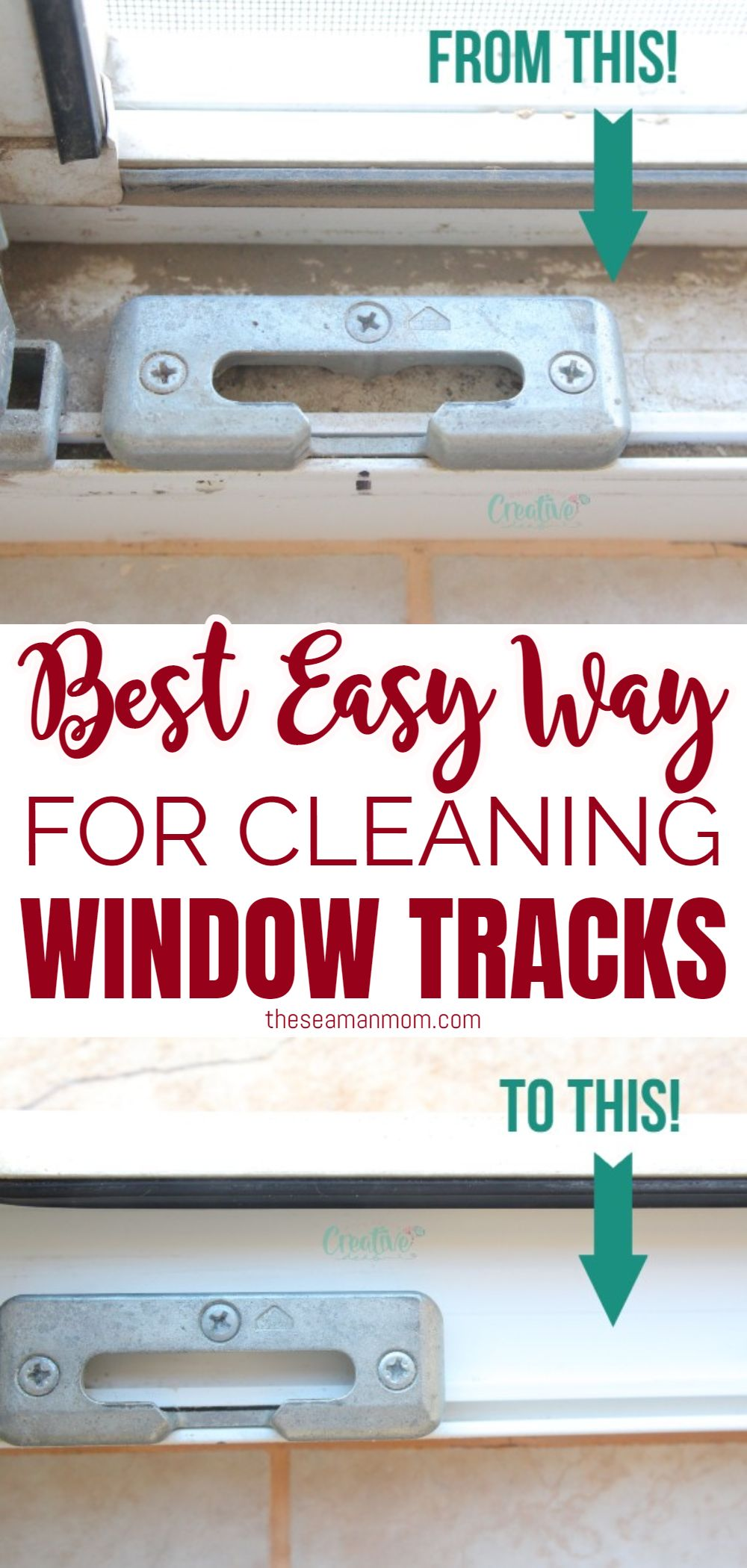 Need a quick, painless and easy method for cleaning window tracks? Here are some simple but effective tricks for how to clean window tracks that will help you get the job done in no time! via @petroneagu