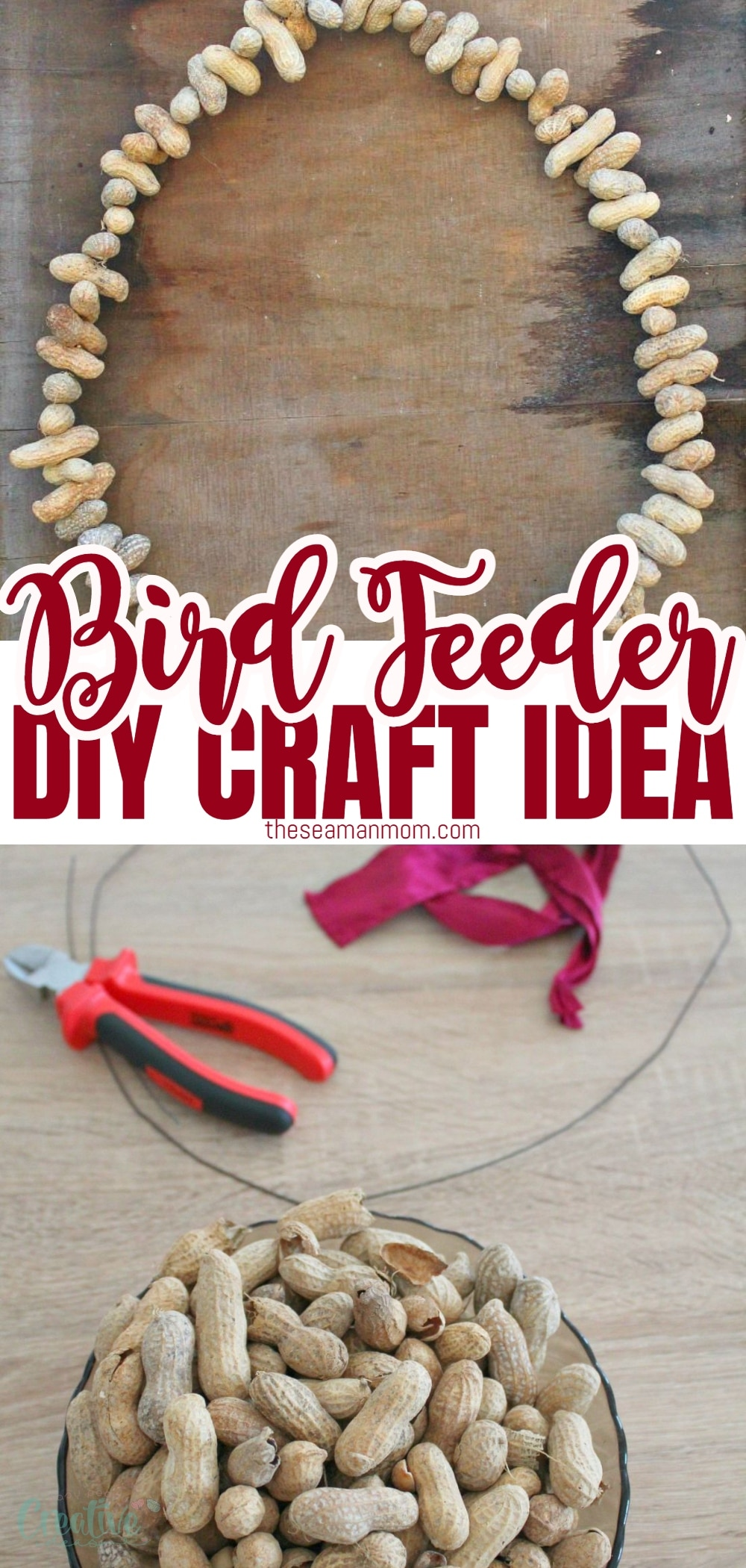 Make this fun and easy peanut bird feeder to keep birds happy and healthy in cold fall and winter days! A 10 minutes project that makes a great gift too! via @petroneagu