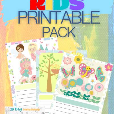 Wonderful fun Kids Printable Pack to Encourage Creativity – plus a BONUS