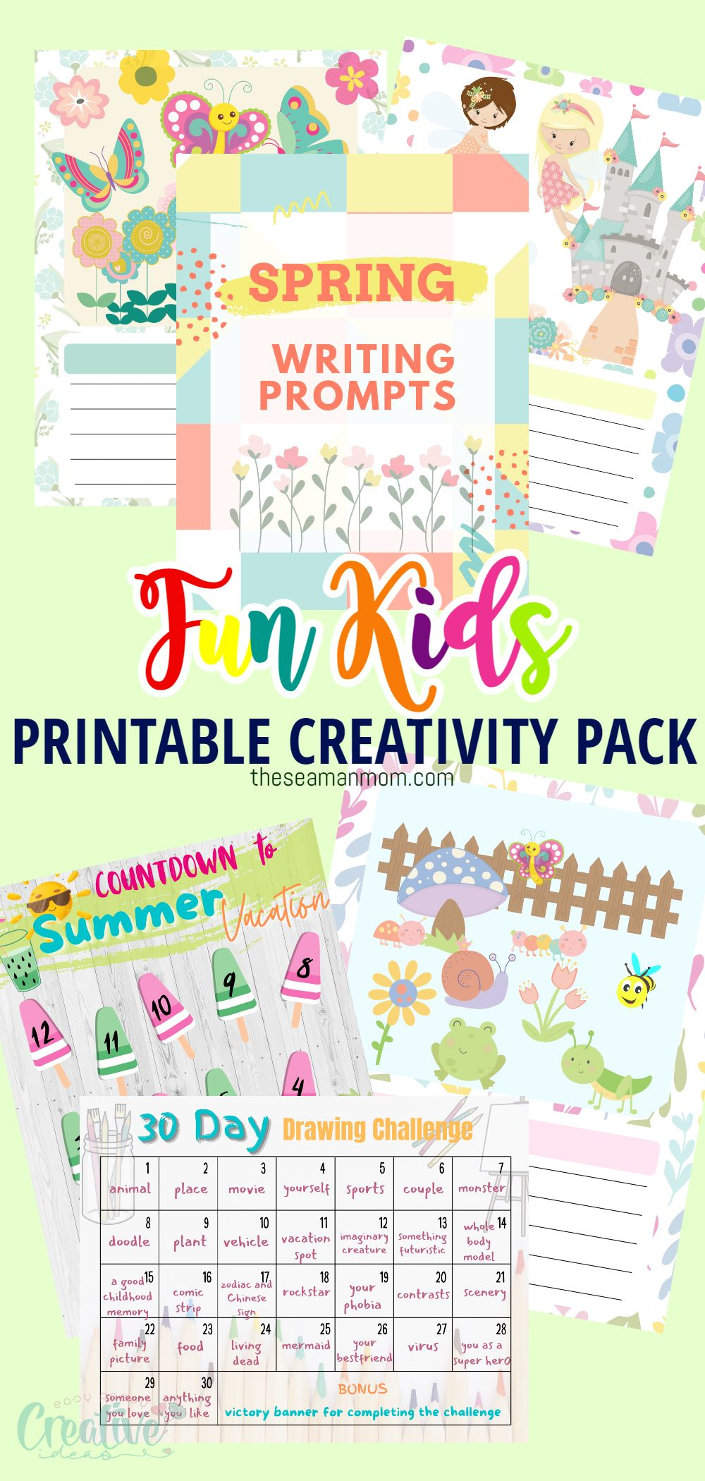 Whether you're hoping to provide them with some educational fun on a rainy spring day or need to help your kids cool down on a hot summer afternoon, it's always a good idea to have some indoor activities on hand. These fun printables for kids encourage creativity and keep the kids busy during school breaks. via @petroneagu